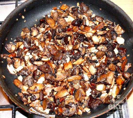 Жюльен с лесными грибами