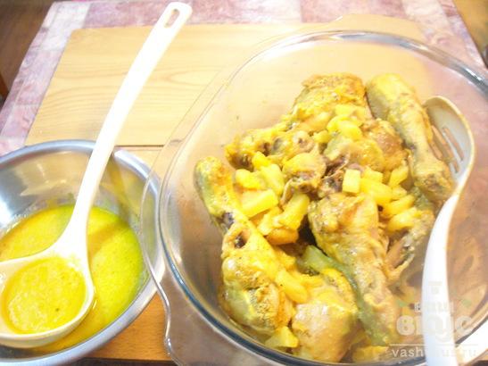 Ножки карри в ананасовом соусе