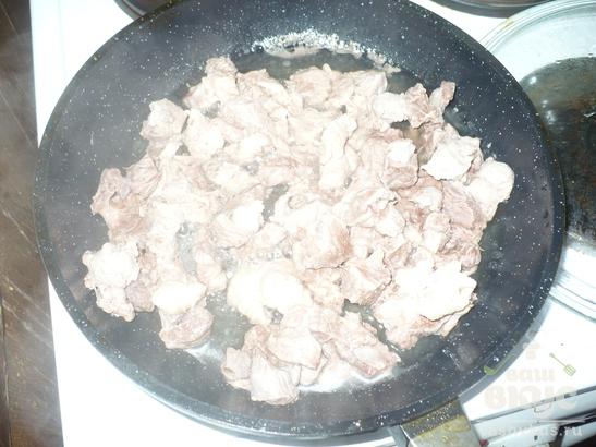 Капуста тушеная с мясом