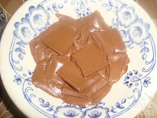 Блинчики на сметане с бананом и шоколадом
