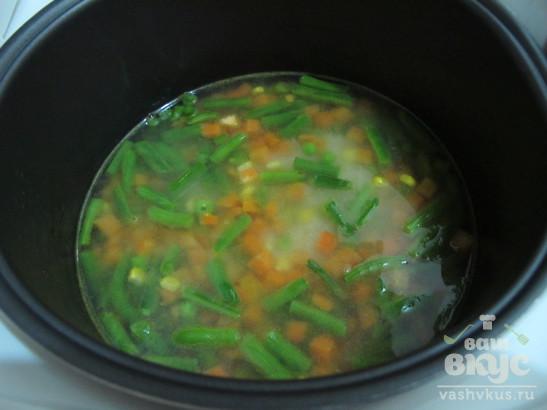 Рис басмати с овощной замороженной смесью в мультиварке