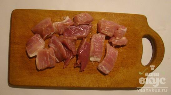 Мясо в фольге на пару