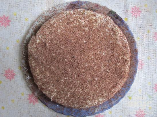 Чайный торт с кремом на сгущенке в мультиварке
