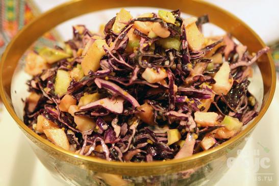 Авторский салат из краснокачанной капусты