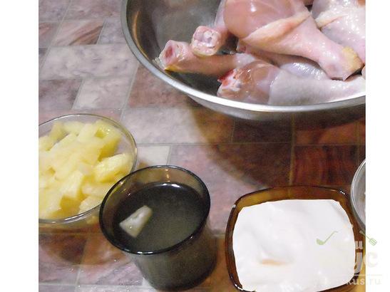 Куриное Ассорти в ананасовом бешамель