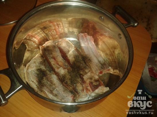 Мясо на ребре в вине