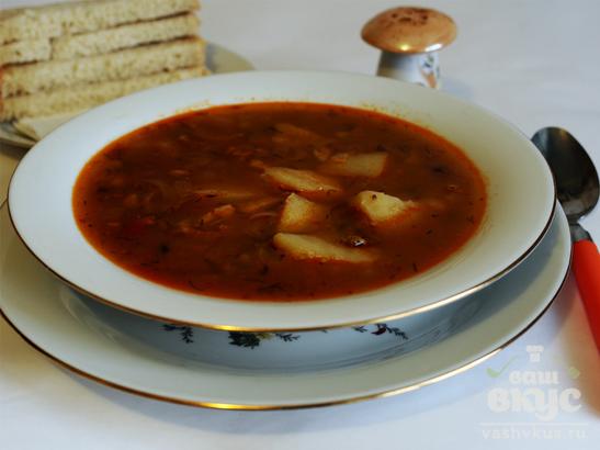 Гороховый суп с бараниной и машем