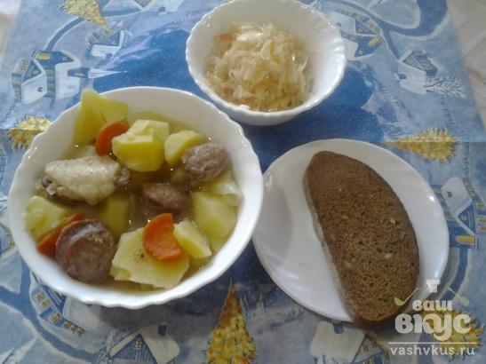 Сытный картофель по-крестьянски с грибами
