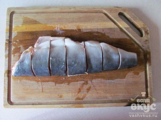 "Рыба на морковной ""подушке"" с грибами"