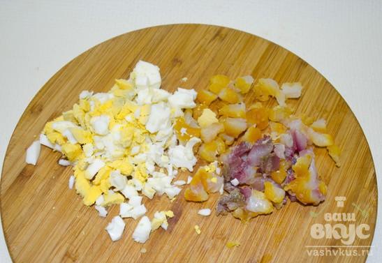 Салат из копчёно-вяленой рыбы (толстолобикa)