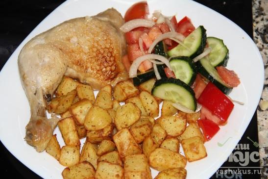 Картофель в специях с курочкой