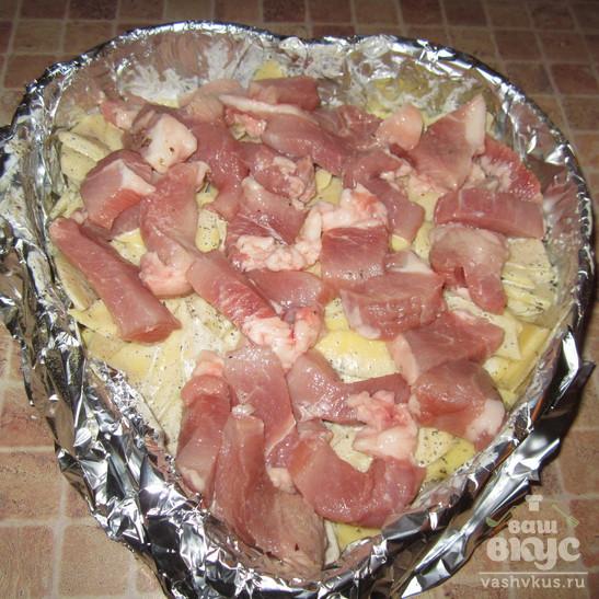 Министерский картофель с брокколи и грибами