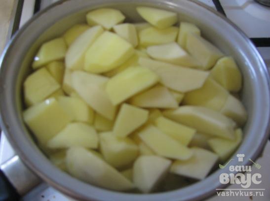 Блинчики с курицей и картофелем