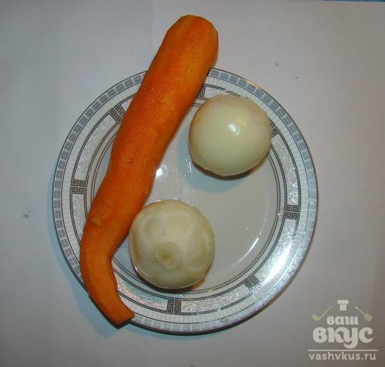 Тушеная нототения с овощами