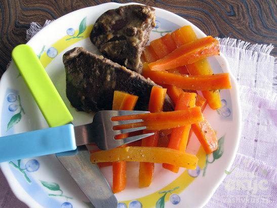 Печень с морковью в мультиварке