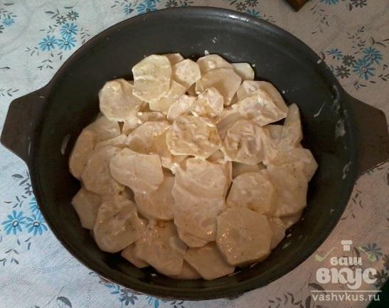 Картофель, запеченный под сыром