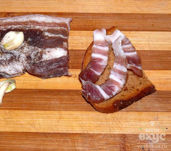 Молотое сало с чесноком рецепт с пошагово