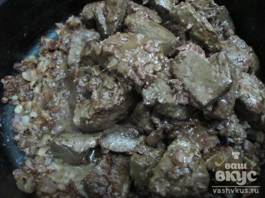 Говяжья печень с подливкой