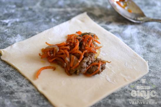 Пельмени с грибами и морковью