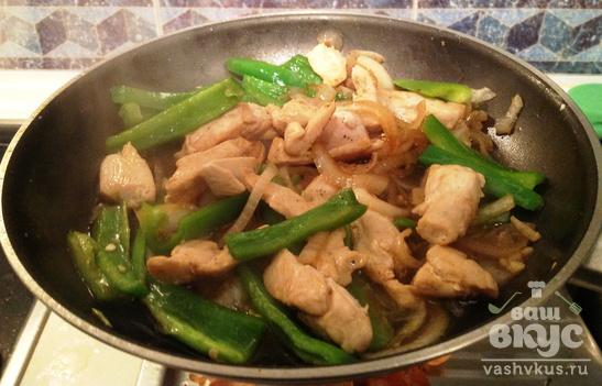 Куриное филе по-китайски с кунжутом