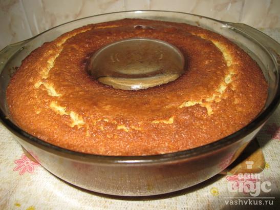 Ванильный кекс с сахарной помадкой
