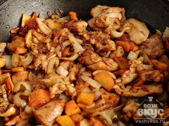 Скоблянка из курицы с картофелем
