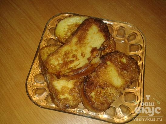 Сладкие гренки на сковороде