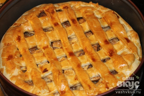 Песочный пирог с яблоками
