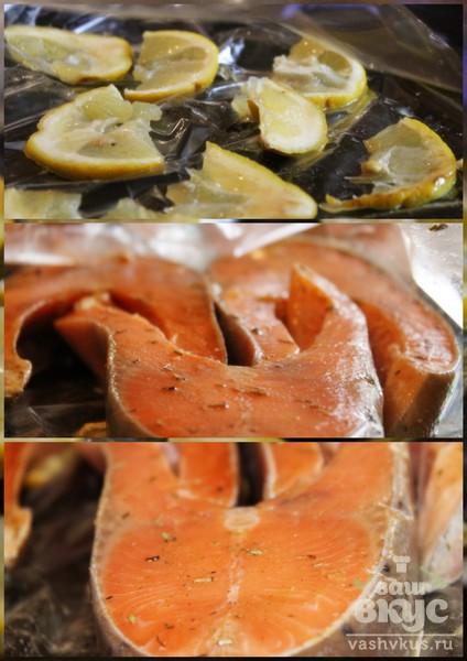 Запеченные стейки форели