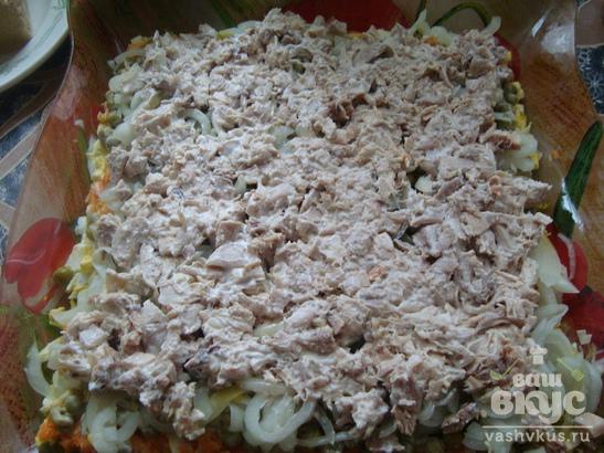 Салат с курицей и яйцом