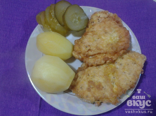 """Куриные """"кармашки"""" с сыром"""