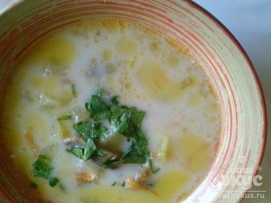 Сырный суп с шампиньонами в мультиварке Brand 502