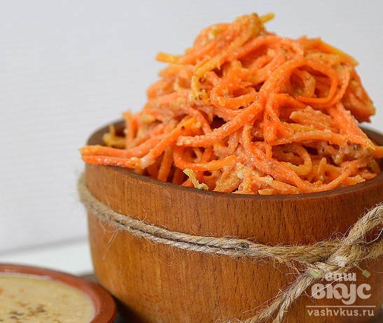 Корейская морковка с тахини