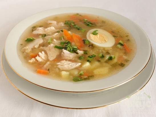 Легкий куриный суп