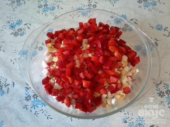 Салат крабовый с болгарским перцем