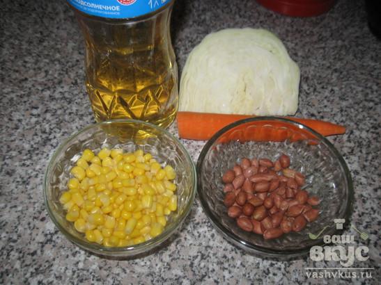 Салат Витаминный с капустой и морковью