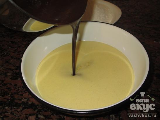 Пирог с горьким шоколадом