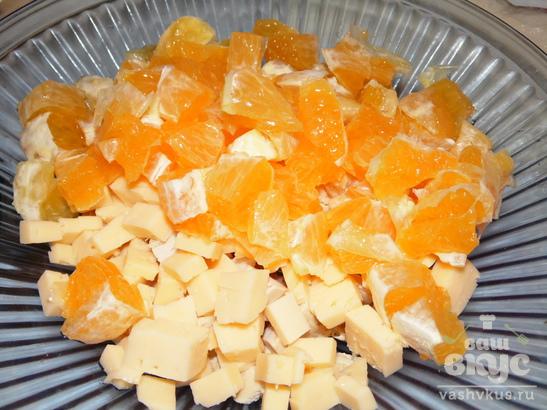 """Салат с курицей и апельсином """"Буйство вкуса"""""""
