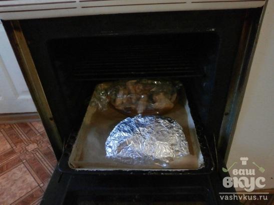 Крылышки в медовом соусе в духовке