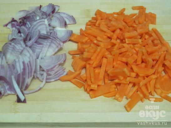 Говядина с кабачком и морковью