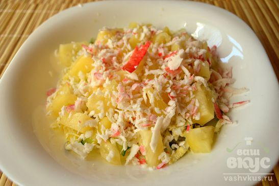 Салат с картофелем «Ананасы под снегом»