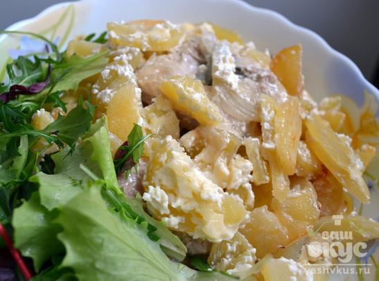 Свинина с картофелем в сметанном соусе в духовке