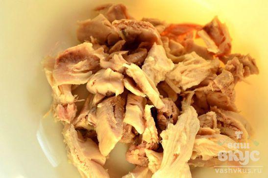 Салат на скорую руку с курицей