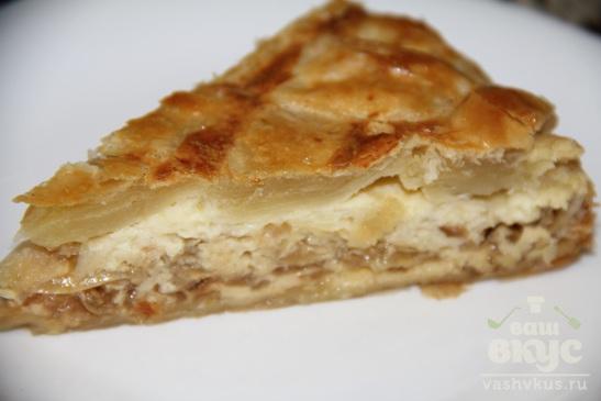 Сырно - луковый пирог из слоеного теста Onion Pie