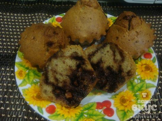 Кексы с шоколадной начинкой