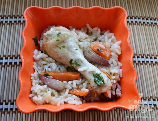 Курица с рисом в мультиварке Redmond