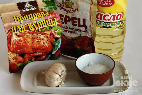 Жаркое из курицы в чесночном маринаде