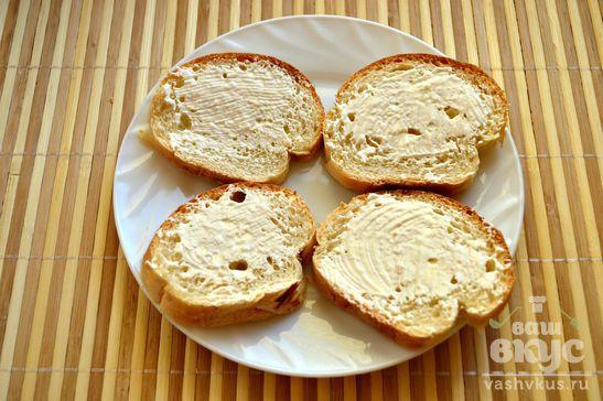 Праздничные горячие бутерброды с королевскими креветками