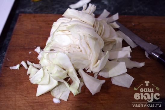 Рагу из овощей, грибов и копченостей