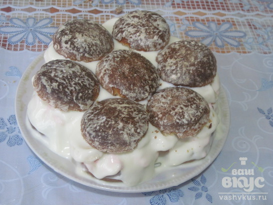 Пряничный торт с зефиром